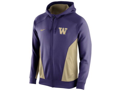 Washington Huskies Nike NCAA Men's Basketball Performance Hero Full Zip Hoodie