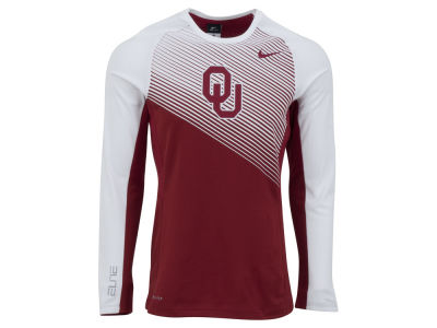 Oklahoma Sooners Nike NCAA Men's Fearless Shootaround Long Sleeve T-Shirt