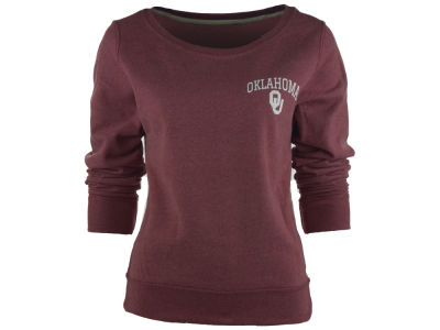 Oklahoma Sooners NCAA Women's Arial Fleece Crew Sweatshirt