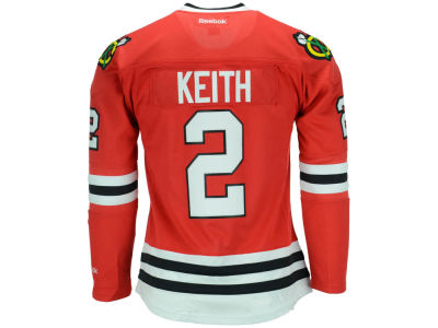 Chicago Blackhawks Duncan Keith Reebok NHL Women's Premier Player Jersey