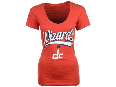 Washington Wizards 5th & Ocean NBA Womens Athletic Foil T-Shirt