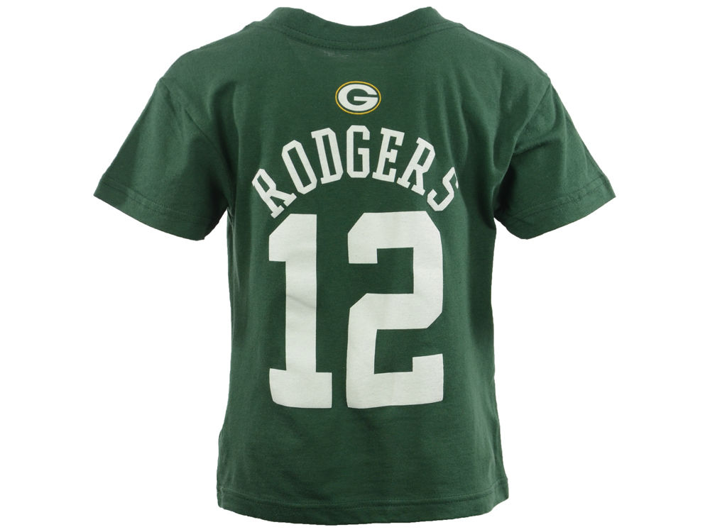 ac1ad1f4e Green Bay Packers Aaron Rodgers Outerstuff NFL Kids Mainliner Player T-Shirt
