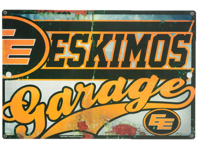 Edmonton Eskimos CFL Garage Sign
