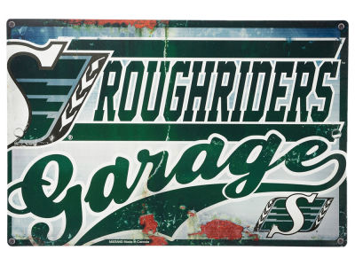Saskatchewan Roughriders CFL Garage Sign