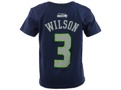 Seattle Seahawks Russell Wilson Outerstuff NFL Kids Mainliner Player T-Shirt