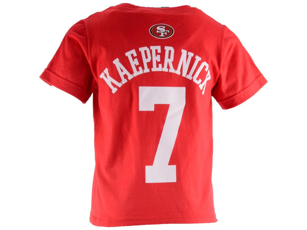 meet c8228 7546b San Francisco 49ers Colin Kaepernick Outerstuff NFL Toddler Mainliner  Player T-Shirt