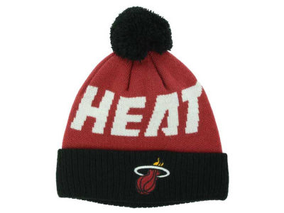 Miami Heat Outerstuff NBA Youth Solid Team Jacuard Pom Knit