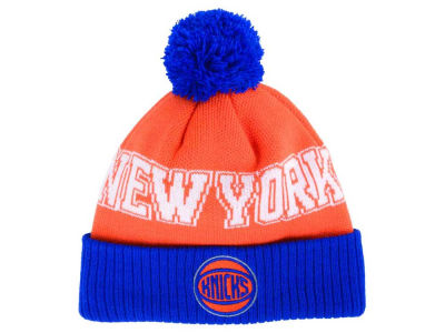 New York Knicks Outerstuff NBA Youth Solid Team Jacuard Pom Knit