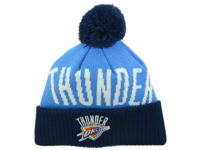 Oklahoma City Thunder Outerstuff NBA Youth Solid Team Jacuard Pom Knit