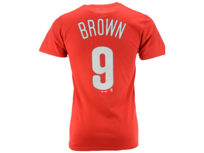 Philadelphia Phillies Domonic Brown Majestic MLB Men's Official Player T-Shirt