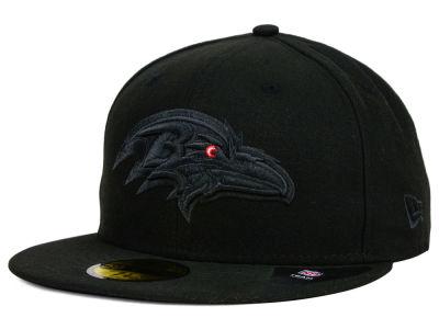 Baltimore Ravens New Era NFL Black on Black 59FIFTY Cap