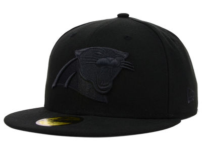 Carolina Panthers New Era NFL Black on Black 59FIFTY Cap