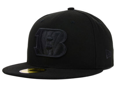 Cincinnati Bengals New Era NFL Black on Black 59FIFTY Cap