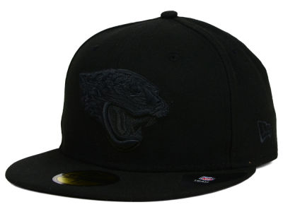 Jacksonville Jaguars New Era NFL Black on Black 59FIFTY Cap