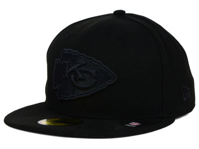 Kansas City Chiefs New Era NFL Black on Black 59FIFTY Cap