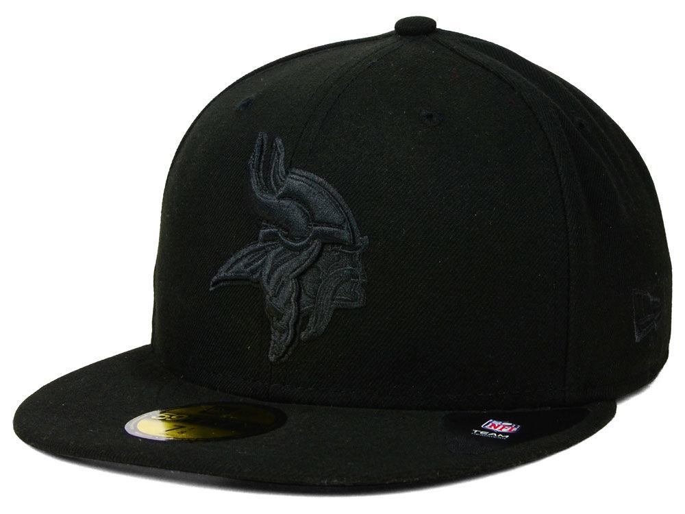 Minnesota Vikings New Era NFL Black on Black 59FIFTY Cap  8d583663c41