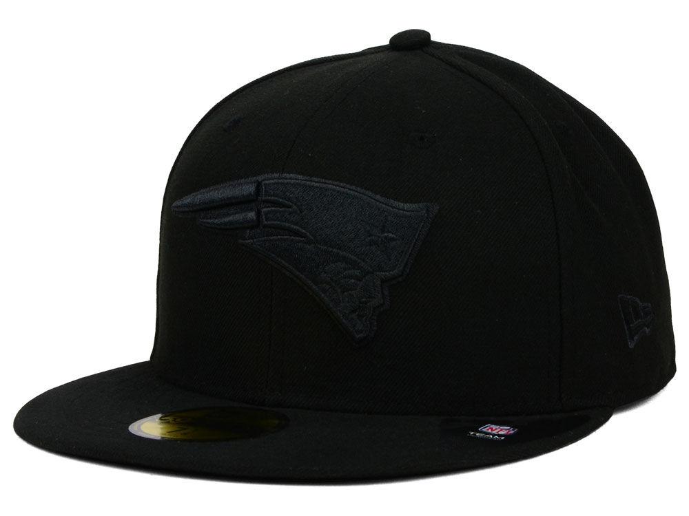 5d92aeba2a2 New England Patriots New Era NFL Black on Black 59FIFTY Cap