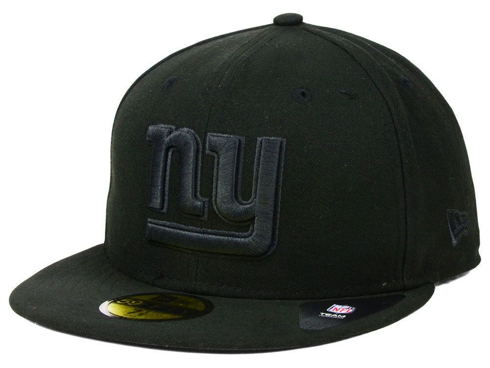 cheap for discount cd697 c82ad ... where can i buy new york giants new era nfl black on black 59fifty cap  81187