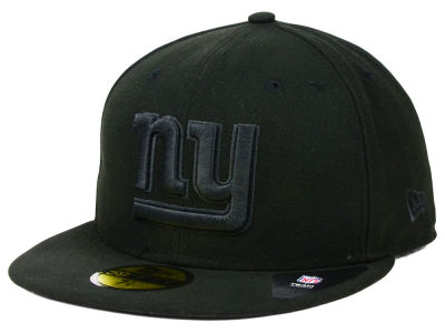 New York Giants New Era NFL Black on Black 59FIFTY Cap