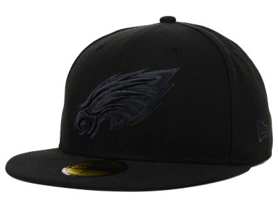 Philadelphia Eagles New Era NFL Black on Black 59FIFTY Cap