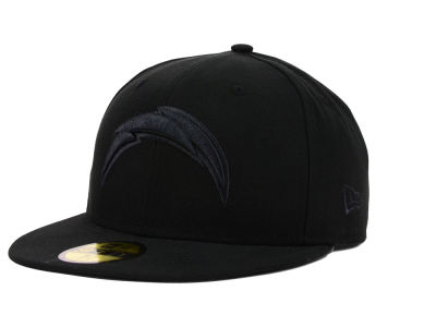 San Diego Chargers New Era NFL Black on Black 59FIFTY Cap
