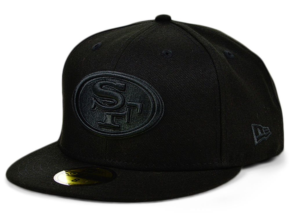 San Francisco 49ers New Era NFL Black on Black 59FIFTY Cap  e1cf1a0417a3