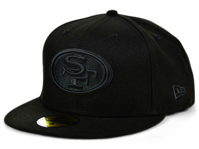 San Francisco 49ers New Era NFL Black on Black 59FIFTY Cap