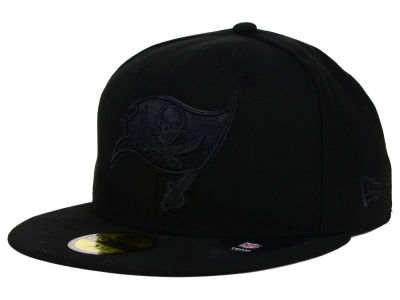 Tampa Bay Buccaneers New Era NFL Black on Black 59FIFTY Cap