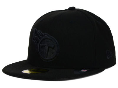 Tennessee Titans New Era NFL Black on Black 59FIFTY Cap