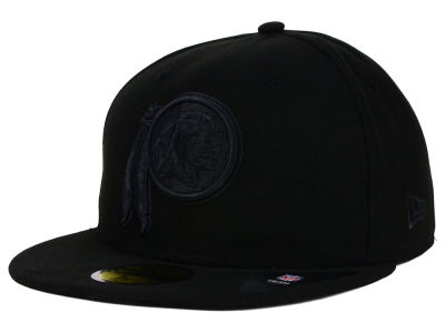 Washington Redskins New Era NFL Black on Black 59FIFTY Cap