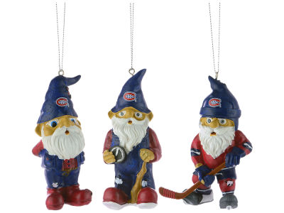 Montreal Canadiens Resin Gnome Ornament Set of 3