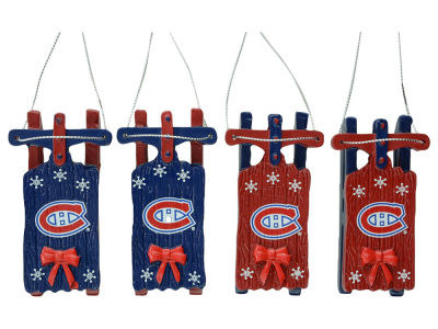 Montreal Canadiens Resin Sleigh Ornament Set of 4