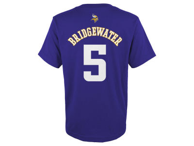 Minnesota Vikings Teddy Bridgewater Outerstuff NFL Youth Mainliner Player T-Shirt