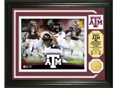 Texas A&M Aggies Johnny Manziel Photo Mint Coin-Bronze