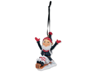 New England Patriots Sledding Elf Ornament