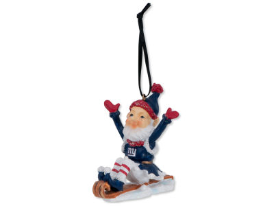 New York Giants Sledding Elf Ornament
