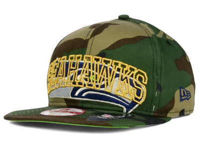 Seattle Seahawks New Era NFL Metallic Cue Original Fit 9FIFTY Snapback Cap