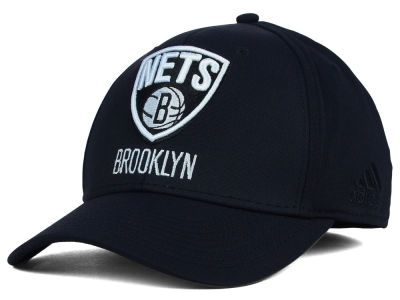 Brooklyn Nets adidas NBA Black Run and Gun Cap