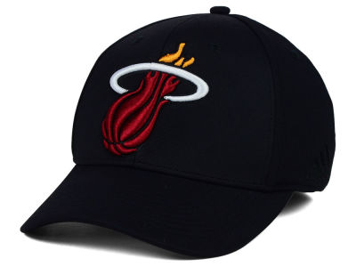 Miami Heat adidas NBA Black Run and Gun Cap