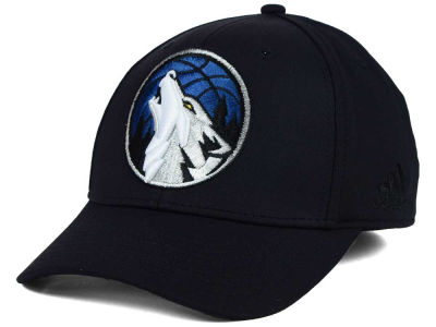 Minnesota Timberwolves adidas NBA Black Run and Gun Cap