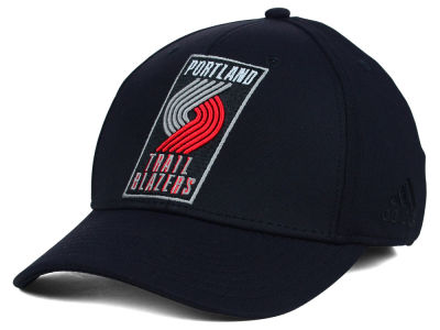 Portland Trail Blazers adidas NBA Black Run and Gun Cap