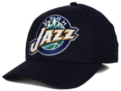 Utah Jazz adidas NBA Black Run and Gun Cap