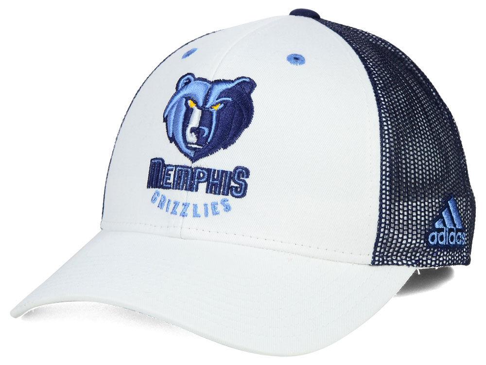 detailed look f4ab5 ee302 Memphis Grizzlies adidas NBA Back Screen Mesh Cap   lids.com