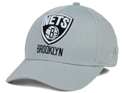 Brooklyn Nets adidas NBA Gray Run and Gun Flex Cap