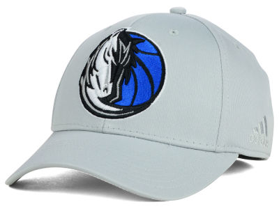 Dallas Mavericks adidas NBA Gray Run and Gun Flex Cap
