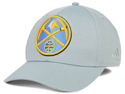 Denver Nuggets adidas NBA Gray Run and Gun Flex Cap