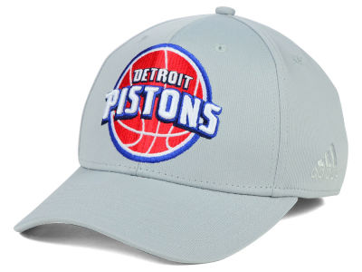 Detroit Pistons adidas NBA Gray Run and Gun Flex Cap