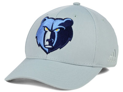 Memphis Grizzlies adidas NBA Gray Run and Gun Flex Cap