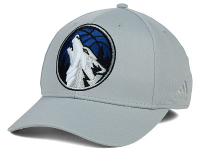 Minnesota Timberwolves adidas NBA Gray Run and Gun Flex Cap