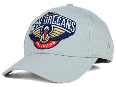 New Orleans Pelicans adidas NBA Gray Run and Gun Flex Cap
